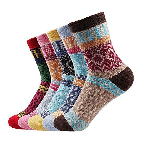 Winter Thermal Kaschmir SneakerSocken Frauen Warm Kaninchen Wolle Socken Damen Thicken Socken, Baumwolle Socken 5 Paar/Los