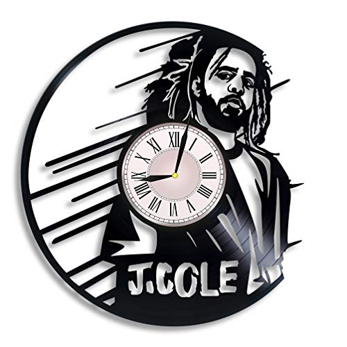 J. Cole Vinyl Record Wall Clock, J Cole Rapper, J Cole Artwork, J Cole Gift, J Cole Clock, Wall Decor, J Cole Singer, J Cole Music