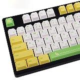 PBT 139 Keycap Japanese Cherry Profile Dye Sublimation Lemon Yellow Green for Cherry MX Switch Mechanical Keyboard