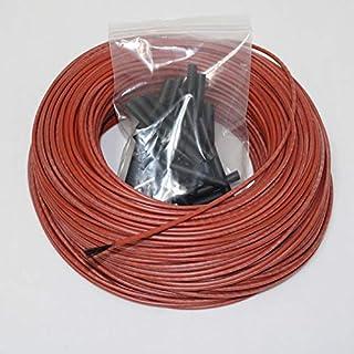 DZF697 1PC 12K 10 à 100 mètres Chauffage Chaud Câble Chauffant 33ohm Fils de Chauffage en Fibre de Carbone (Taille : 100m)