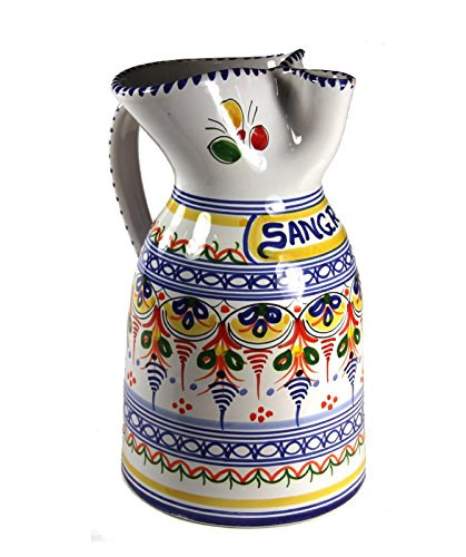 Hand Painted Ceramic Sangría Pitcher