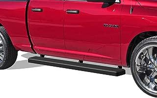 APS iBoard Running Boards 5 inches Matte Black Custom Fit 2009-2018 Dodge Ram 1500 Quad Cab Pickup 4-Door (Nerf Bars Side Steps Side Bars)