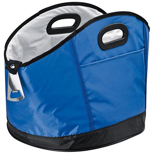 Kühltasche XXL / rund / mit Flaschenöffner / Farbe: blau