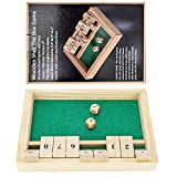 Win SPORTS Wooden Shut The Box Game - Dice Game 2...