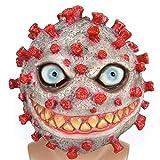 DOMO 仮面 ウイルスマスク お面 ハロウィーンマスク 3Dマスク ウイルスモデル ウイルス防止教育小道具 コスプレ 仮装 半面 ウイルス小道具 文化祭 学園祭 夏祭り仮面 パーティー道具