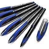 Uni-Ball AIR Micro - Bolígrafos de punta fina, 0,5mm, 6unidades, color azul, UBA-188-M