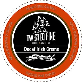 Twisted Pine Coffee Decaf Irish Creme, Flavored Decaf Coffee, Single-Serve Cups for Keurig K-Cup Brewers, 40 Count