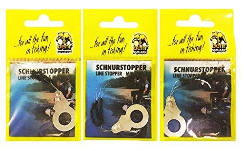 Behr Schnurstopper-Set Angeln - 3 x 15 Gummi-Stopper Posenstopper S M L