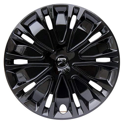 XJWWW Juego de 4 fundas de rueda compatibles con 16 pulgadas, piezas de modificación de coche, colocación gratuita, envío del logotipo del coche JWOMO (color: negro, tamaño: 40,6 cm)