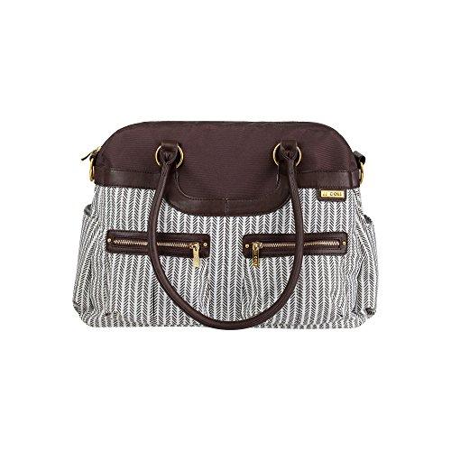 JJ Cole Satchel Diaper Bag, Dashed Stripe
