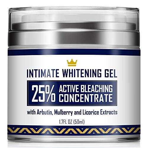 Intimate Whitening Cream - Made in USA Skin Lightening Gel for Body, Face, Bikini and Sensitive...