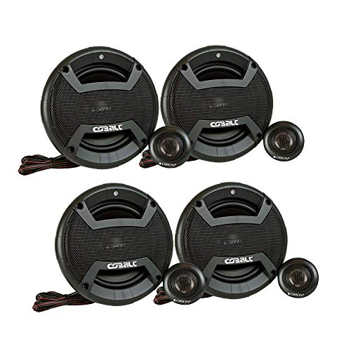 Orion Cobalt CT-CK655 4 Speakers 6.5' 2-Way Coaxial Component Speaker 50W RMS 4 OHM 450 Watts Max Power Set of 2 Pairs
