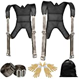 WELLUCK Furniture Moving Straps, Adjustable,Comfortable,Effortless Shoulder Dolly Lifting Straps for Moving Furniture,Appliance,Mattress,fridge,Piano,TV, Reduce Pain 2 Person Lifting and Moving System