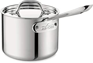 All-Clad 4201 Stainless Steel Tri-Ply Bonded Dishwasher Safe Sauce Pan with Lid / Cookware 2-Quart Silver 4202