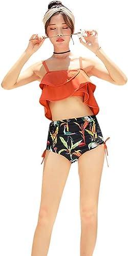 H-M-STUDIO Maillots De Bain nouveau Hot Spbague Maillots De Bain 2019 Femmes Split Maillot De Bain Deux Pièces Ensemble Version Coréenne Mode Taille Haute Slim Sexy Bikini