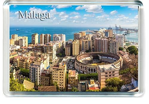 H263 Málaga Imán para Nevera Spain Travel Fridge Magnet