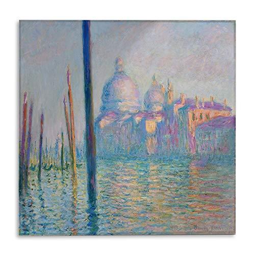 Giallobus - Schilderij - Claude Monet - Groot Kanaal - bedrukking op plexiglas acryl - klaar om op te hangen - Diverse formaten - 50x50 cm