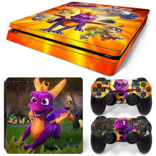 46 North Design Ps4 Slim Playstation 4 Slim Pegatinas De La Consola Cartoon + 2 Pegatinas Del Controlador