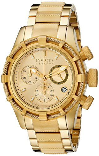 Invicta 12461 All 18k Gold Plated Bolt Reserve Women