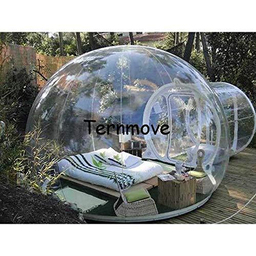 XuBa Camping Bubble Zelt, 0,3 mm PVC Outdoor aufblasbar Klar Blasenzelt Messen aufblasbare Zelte, große aufblasbare Kuppel Veranstaltungszelt, farblos, Customized