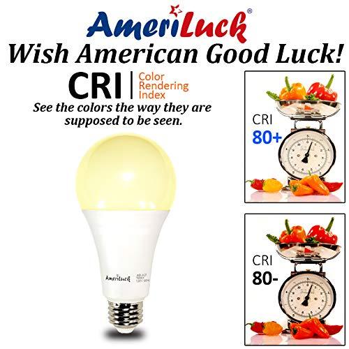 AmeriLuck 3-Way LED Light Bulb A21, 50-100-150W Equivalent (3000K   Warm White, 2 Pack)