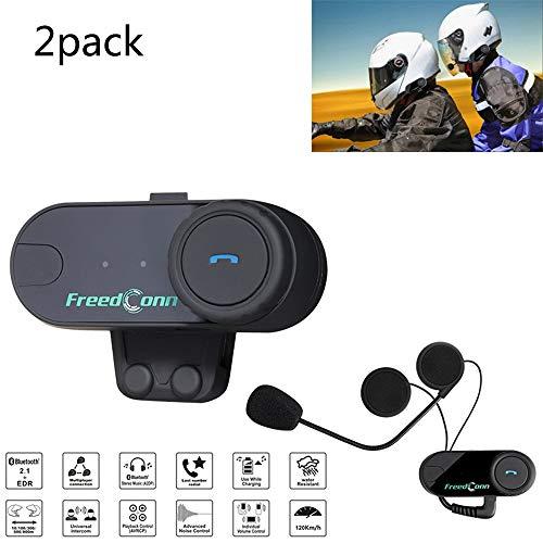 Braveking Motorrad Headset, Motorradhelm Bluetooth Intercom Kommunikationssystem Headset Sprechzeit 10H 800M Sprechreichweite Geräuschpegelkontrolle FM-Radio Wasserdicht, Sonnencreme, Staubdicht,2