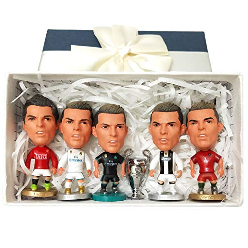 Cradifisho – Fußballspieler, Fan von Real Madrid, Ronaldo, Exquisites Modell, Champion-League Puppe, Geburtstag, Weihnachtsgeschenk (5+1)