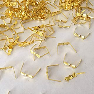 ZP02 Chandelier Connectors Clips Pins For Fastening Crystals Parts, Chandelier Replacements 300pcs (Gold)