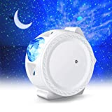 LED Night Light Projector, LUXONIC 3in1 Star Night Light Ocean Wave Projector Light Decorative Moon Light with Sound Activated Stars Projector Light for Kids Baby Adults Bedroom Holidays