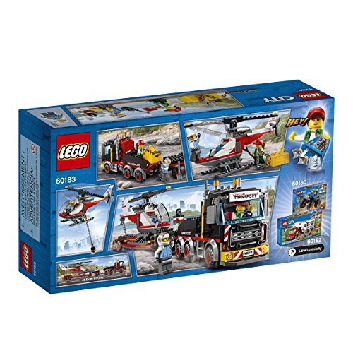 LEGO City Heavy Cargo Transport 60183 Toy Truck Building Kit with Trailer, Toy Helicopter and Construction Minifigures for Creative Play (310 Pieces)