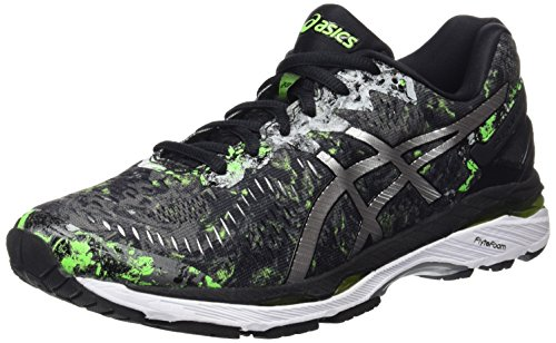 Asics Gel-Kayano 23, Zapatillas de Running para Hombre, Color Negro (Black/Silver/Green Gecko), 46 EU (10.5 UK)