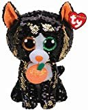Ty- Flippables TY36784 - Jinx The Cat Sequins Soft Toy 23 cm, Multi-Coloured