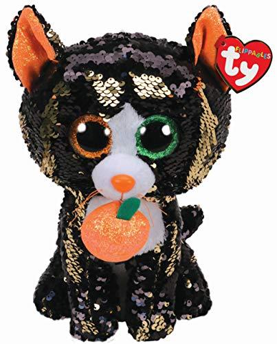 Ty – Flippables – Peluche de Lentejuelas Brillante Jinx el Gato Halloween