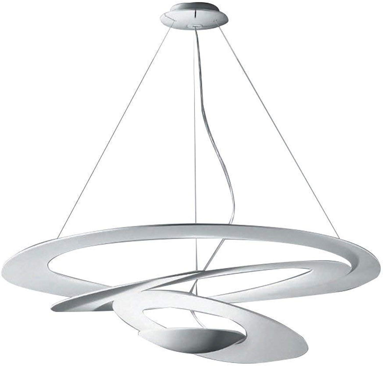 Moderne minimalistische Beleuchtung, kreative Schmiedeeisen Pendelleuchte europischen runden Pendelleuchte Spirale Kronleuchter Deckenleuchte (Größe   80cm)