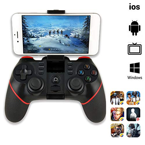 Halsey99 Bluetooth-Game-Controller Wireless Mobile Phone Joystick Gamepad für iOS Android Smartphone Tablet Smart TV Set-Top-Box PC PS3