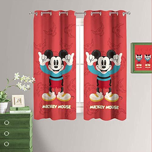 Cortinas opacas con aislamiento térmico y ojales para sala de estar, 120 x 200 cm