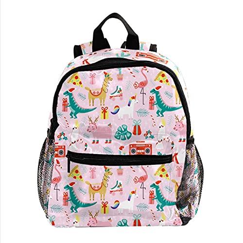 Mochila para niños de invierno con diseño de Papá Noel y reno de Navidad, para niños y niñas de 30 cm, Color 11, 30 cm