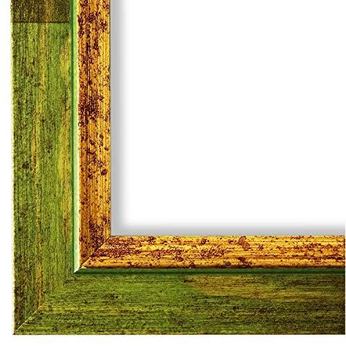 Online Galerie Bingold Bilderrahmen Grün Gold 40x50-40 x 50 cm - Modern, Shabby, Vintage - Alle Größen - handgefertigt - WRF - Catanzaro 3,9