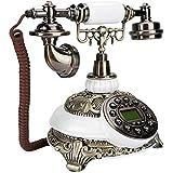 ZOUSHUAIDEDIAN ひも状古いファッションアンティーク固定電話電話、有線ホームオフィス電話の装飾システム、ギフト用セラミックアンティークスタイル、リビングルーム、ベッドルーム、ベッドサイドテーブル、研究、ホテル。