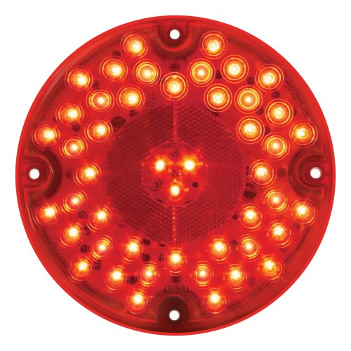 """GG Grand General 82332 Red 7"""" 47-LED Sealed Stop/Turn/Tail Light, Red/Red"""