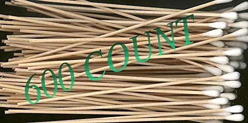 Lot de 600 bâtonnets applicateurs à pointe unique avec manche en bois 15,2 cm