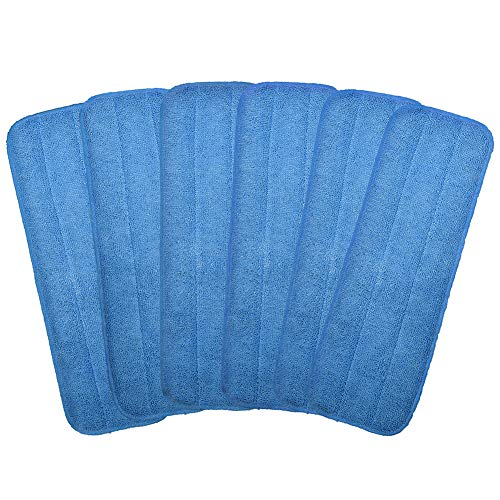 """Price comparison product image Microfiber Replacement Mop Pad,  18"""" x 6"""" Wet & Dry Home & Commercial Cleaning Refills,  Reusable Floor Mop Pads (6 Pack)"""