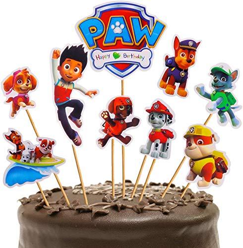 72 topper per torta di compleanno Paw Patrol, decorazioni per cupcake per bambini, feste di nascita, decorazioni fai da te per torte a tema carino