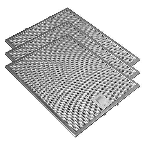 Geeignet für Bosch / Siemens / Neff / Constructa Metall-Fettfilter von Allspares 353110 / 00353110 (3 Stück)