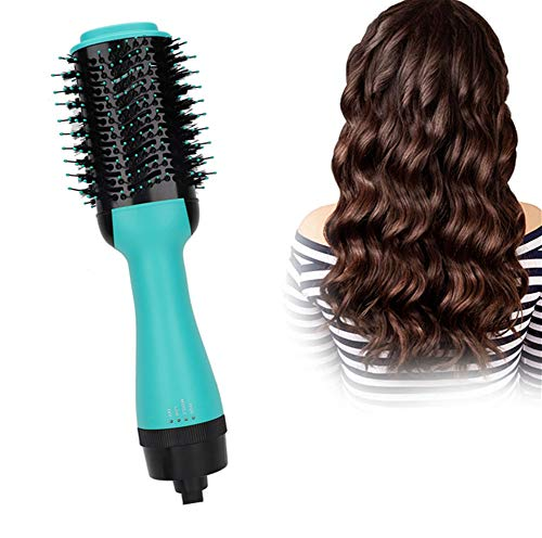 Peine aire caliente, cepillo secador cabello 4in1 un paso Cepillo aire caliente, moldeador, voluminizador Alisador aniones negativos multifuncional Alisado rizado para todo tipo cabello(#1)