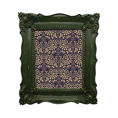 Simon's Shop 8x10 Picture Frame Baroque Picture Frames 8x10 Shabby Chic Photo Frames in Moss Green