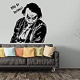 Hollywood Comics Película Superhéroe Villano Joker Poker Heath Ledger Wall Sitcker Vinilo Coche Calcomanía Boy Fans Dormitorio Sala de estar Estudio Oficina Decoración para el hogar Mural