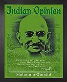 1art1 Mahatma Gandhi Poster Kunstdruck und MDF-Rahmen -