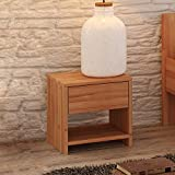 Krok Wood Nachttisch Julia aus Massivholz 40x40x40 cm (in Buche)