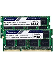 Timetec Hynix IC Apple 16GB Kit (2x8GB) DDR3 1600MHz PC3-12800 SODIMM Memory Upgrade For MacBook Pro, iMac, Mac mini/ Server